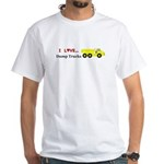 I Love Dump Trucks White T-Shirt