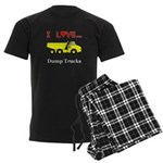 I Love Dump Trucks Men's Dark Pajamas