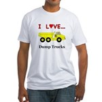 I Love Dump Trucks Fitted T-Shirt