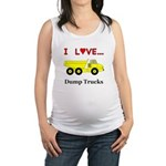 I Love Dump Trucks Maternity Tank Top