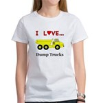 I Love Dump Trucks Women's T-Shirt