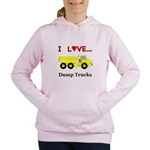 I Love Dump Trucks Women's Hooded Sweatshirt