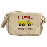 I Love Dump Trucks Messenger Bag