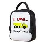 I Love Dump Trucks Neoprene Lunch Bag