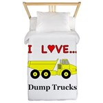I Love Dump Trucks Twin Duvet