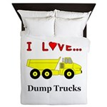 I Love Dump Trucks Queen Duvet