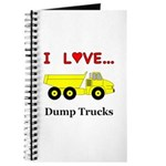 I Love Dump Trucks Journal