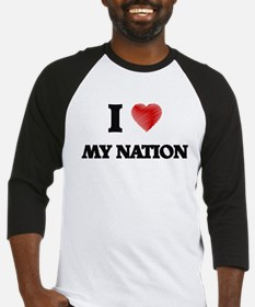 I Love My Nation Baseball Jersey
