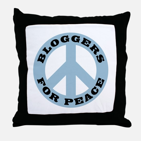 Bloggers For Peace Throw Pillow