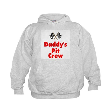 Biker Baby Pit Crew Dad Kids Hoodie