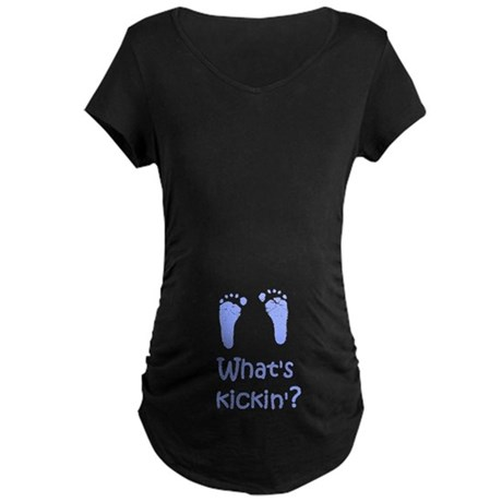 What's Kickin? Maternity Dark T-Shirt