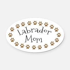 Labrador Mom Oval Car Magnet