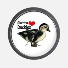 Gotta Love Duckies Wall Clock