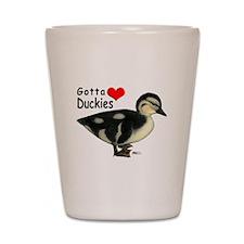 Gotta Love Duckies Shot Glass