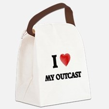I Love My Outcast Canvas Lunch Bag