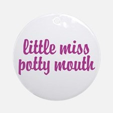 Potty Mouth Ornament (Round)