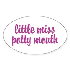 Potty Mouth Oval Decal