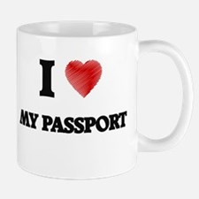 I Love My Passport Mugs