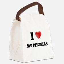 I Love My Phobias Canvas Lunch Bag