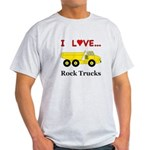 I Love Rock Trucks Light T-Shirt