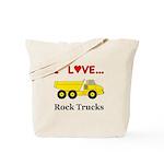 I Love Rock Trucks Tote Bag
