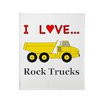 I Love Rock Trucks Throw Blanket