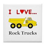 I Love Rock Trucks Tile Coaster