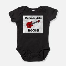 Cute Personalized guitar Baby Bodysuit