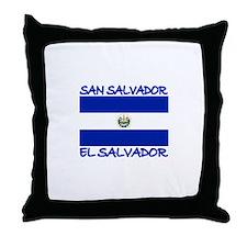 San Salvador, El Salvador Throw Pillow