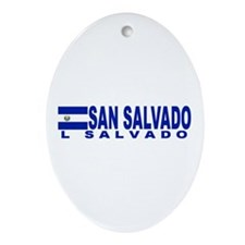 San Salvador, El Salvador Oval Ornament
