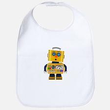 Surprised toy robot Bib