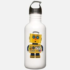 Surprised toy robot Water Bottle