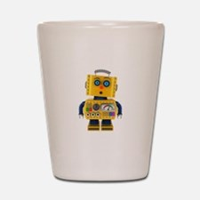 Surprised toy robot Shot Glass