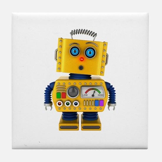 Surprised toy robot Tile Coaster