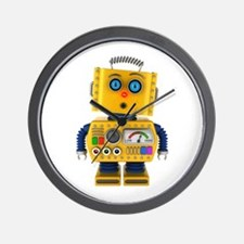 Surprised toy robot Wall Clock