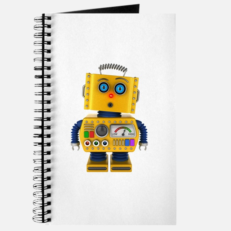 Surprised toy robot Journal
