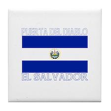 Puerta Del Diablo, El Salvado Tile Coaster