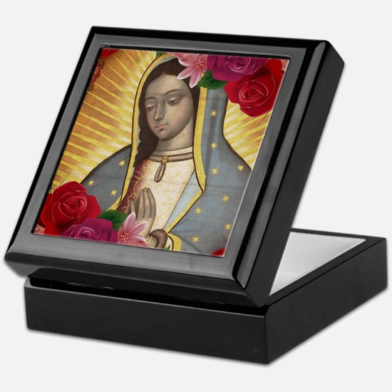 Virgin of Guadalupe with Roses Keepsake Box