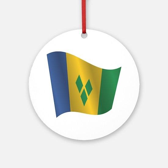 Cute World flags Round Ornament