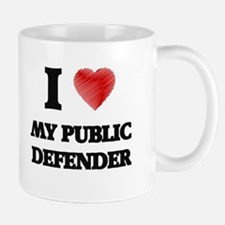 I Love My Public Defender Mugs
