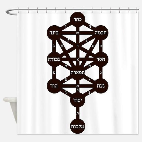 Kabbalah Judaism Tradition Hebrew A Shower Curtain