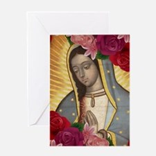Virgin of Guadalupe with Roses Greeting Cards