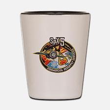 SpX-5 Logo Shot Glass
