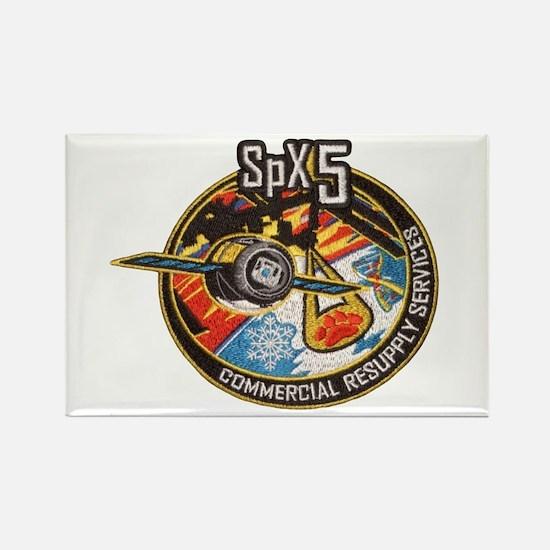 SpX-5 Logo Rectangle Magnet