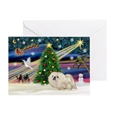 XmasMagic/Pekingese (4w) Greeting Card