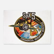 SpX-5 Logo 5'x7'Area Rug