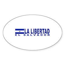 La Libertad, El Salvador Oval Decal