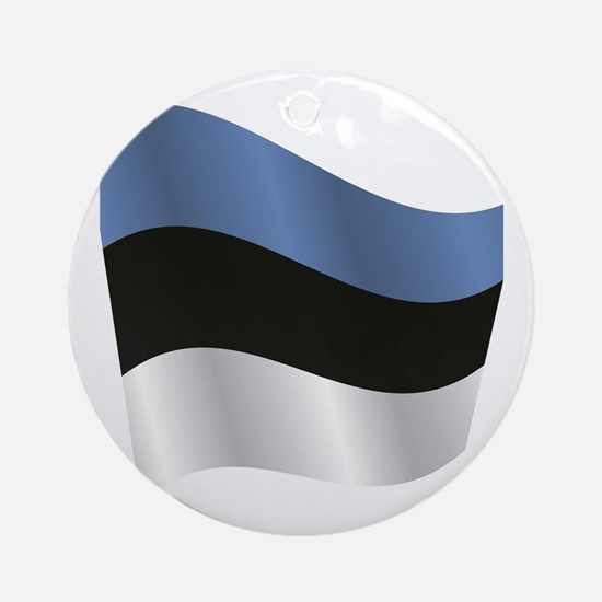 Unique Estonian Round Ornament
