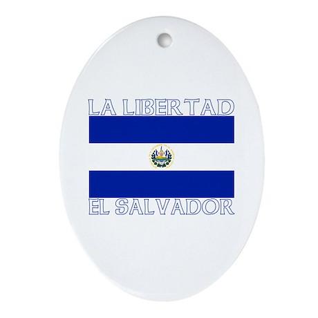 La Libertad, El Salvador Oval Ornament