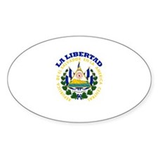 La Libertad, El Salvador Oval Decal
